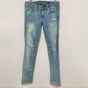American Eagle Glitter Skinny Jeans